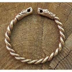 Brons armband orm vikinga