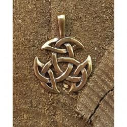 Keltiskt häng smycke i brons