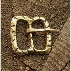 Brons bältes spänne medeltida