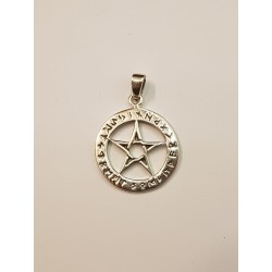 Pentagram häng smycke i silver