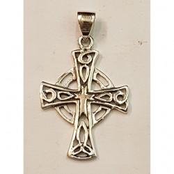 Gothiskt silver kors hänge