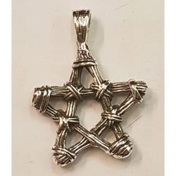 Pentagram i silver