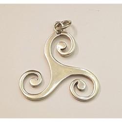 Triskele häng smycke i silver