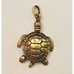 Sköldpadda hängsmycke i brons