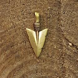 Pilspets häng smycke i brons