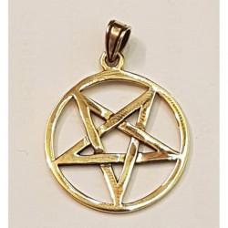 Pentagram hängsmycke i brons