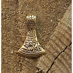 Yxhuvud häng smycke i brons