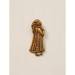 Valkyria bjötkö hänge i brons