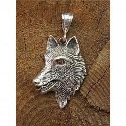 Silver hänge varg