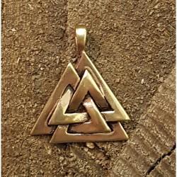 Valknut hänge i brons