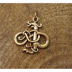 Hänge i norsk urnestil i brons