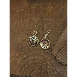 Triskill litet örhängen brons.