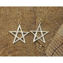 Pentagram örhänge i brons