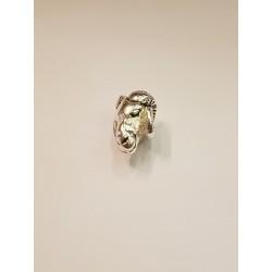 Bock i silverfärgad brons,...