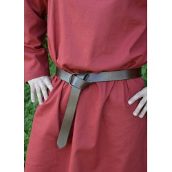 Brunt medeltida läderbälte...