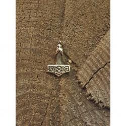 Mini varg kors i brons hänge