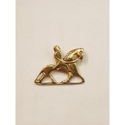 Vikinga ryttare hänge i brons