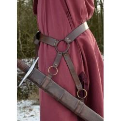 Medeltida svärdbälte, brunt...